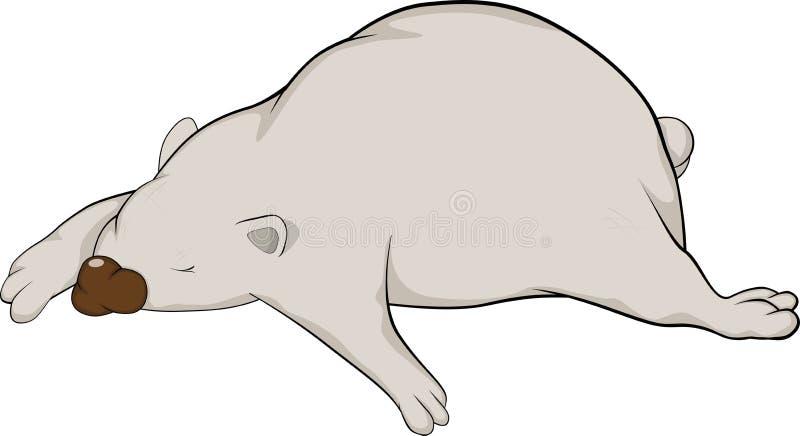 Ours blanc de sommeil illustration stock