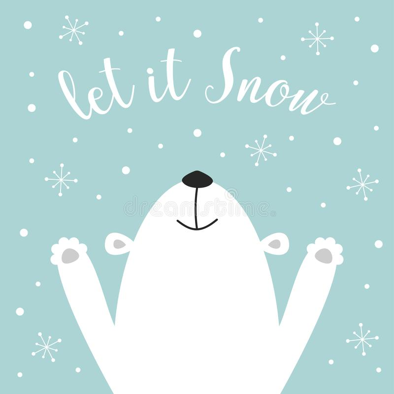 Ours blanc mignon illustration stock