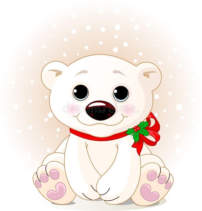 Ours blanc mignon Cub illustration stock