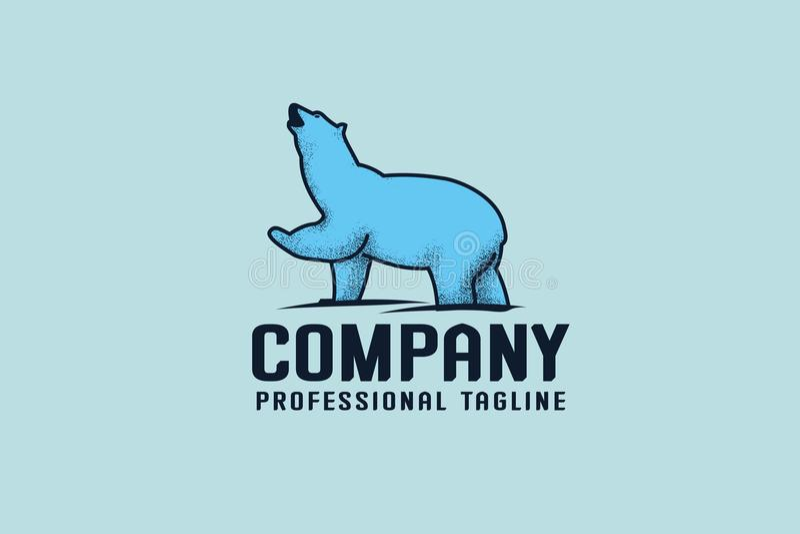Ours bleu Logo Template photo libre de droits