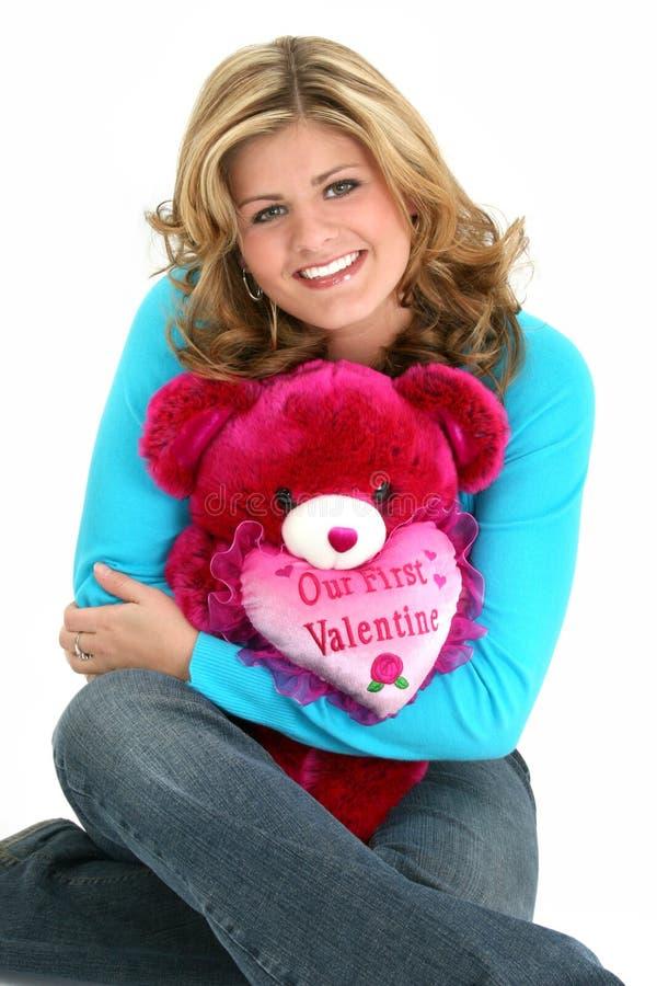 Ours blond de Valentine de femme photos stock