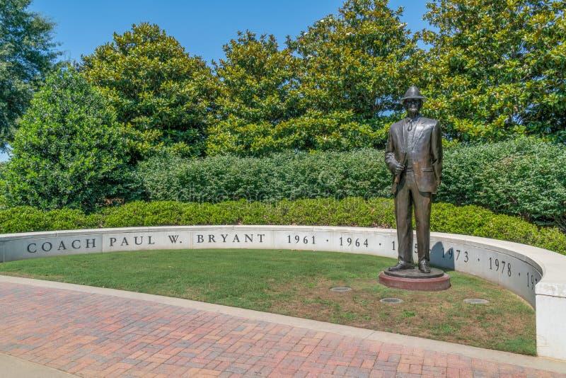 Ours Bryant à l'université de l'Alabama image stock