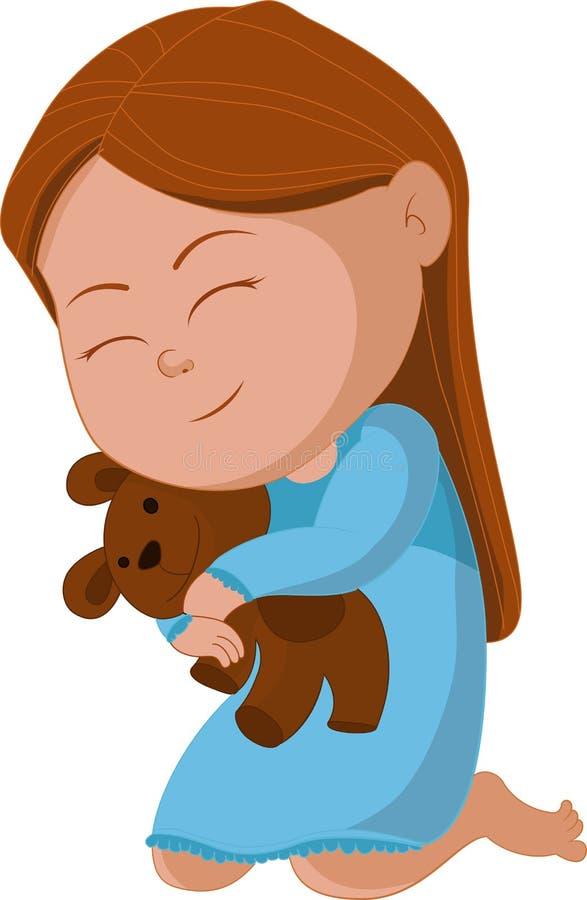 Ours d'étreinte d'enfant illustration libre de droits