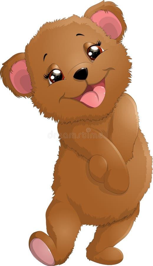 Ours dans la belle pose illustration de vecteur