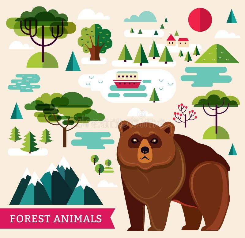 Ours de Brown illustration stock