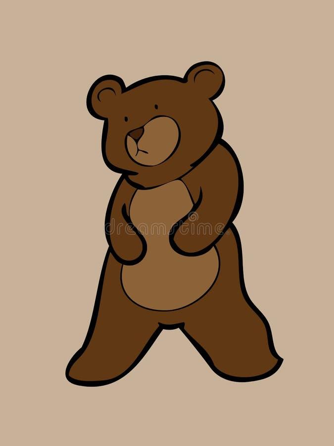 Ours de Brown seul se tenant illustration de vecteur