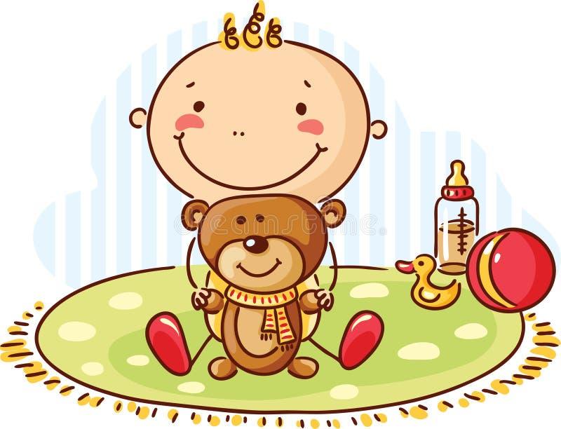 Ours de chéri et de nounours illustration libre de droits