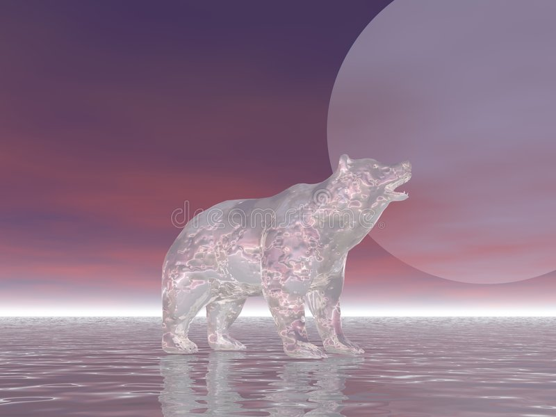 Ours de glace illustration de vecteur
