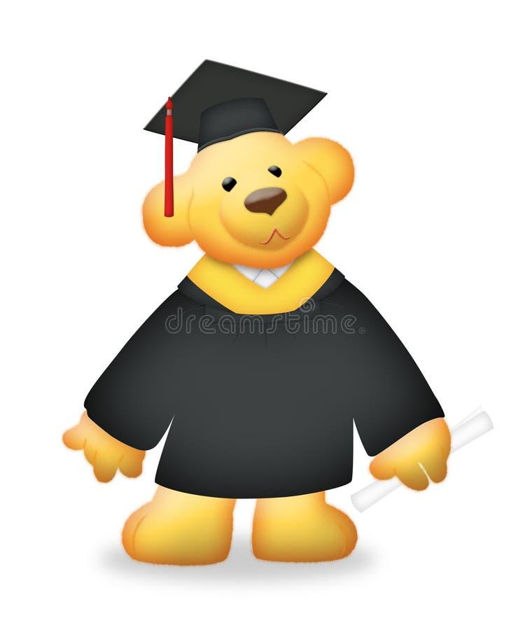 Ours de graduation illustration de vecteur