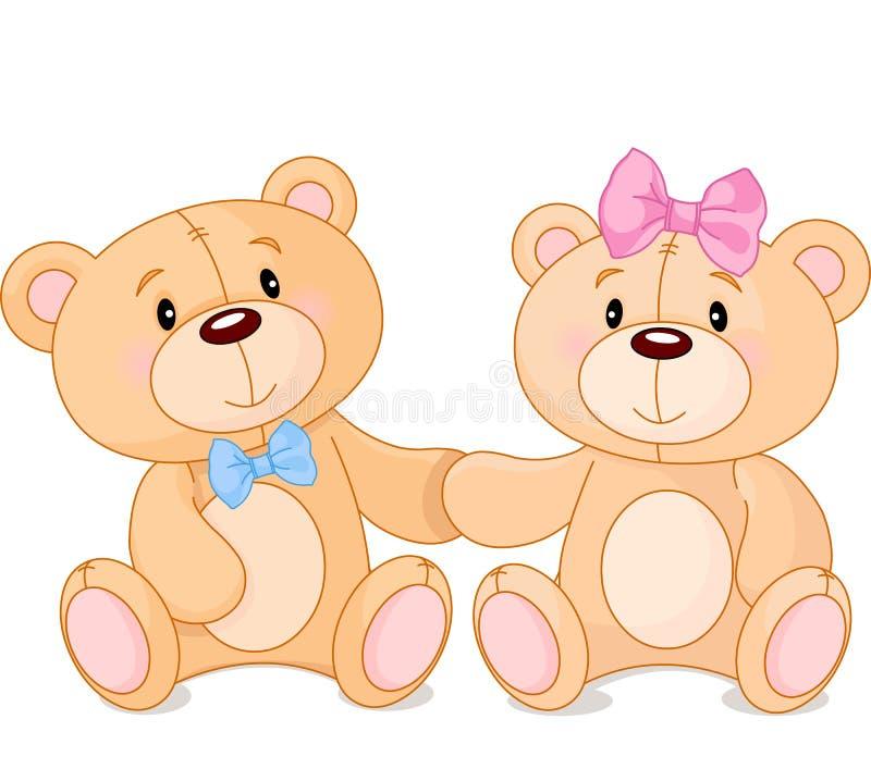 Ours de nounours dans l'amour illustration libre de droits