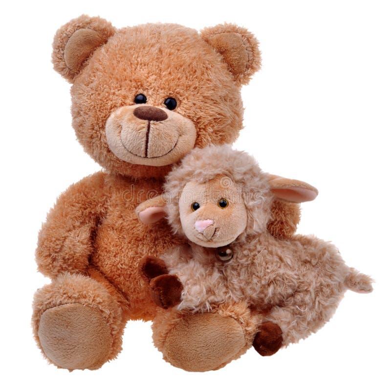 Ours de nounours de jouet avec des moutons image stock