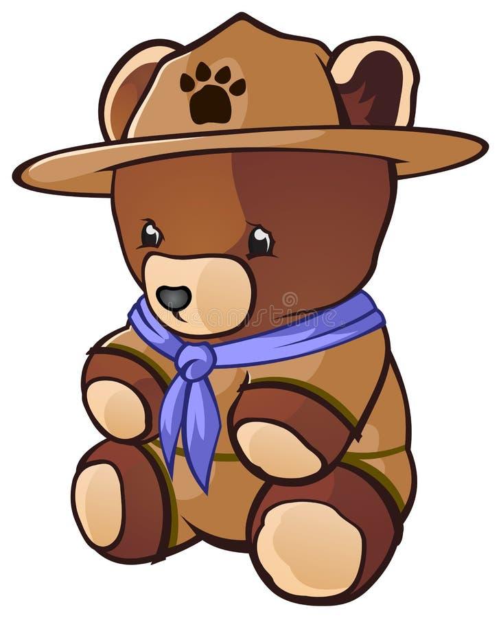 Ours de nounours de scout de Cub illustration stock