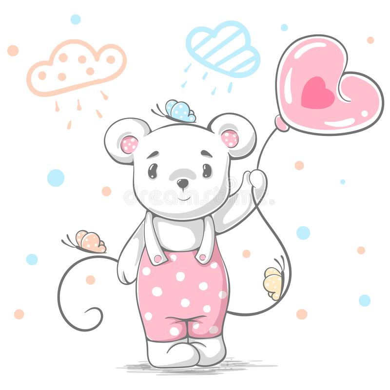 Ours de nounours drôle et mignon - illustration de bande dessinée illustration stock