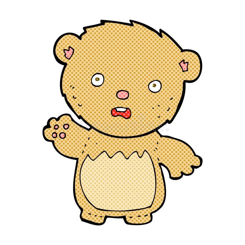 ours de nounours inquiété par bande dessinée comique illustration libre de droits