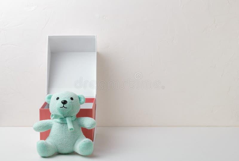 Ours de nounours mol de jouet de turquoise photographie stock libre de droits