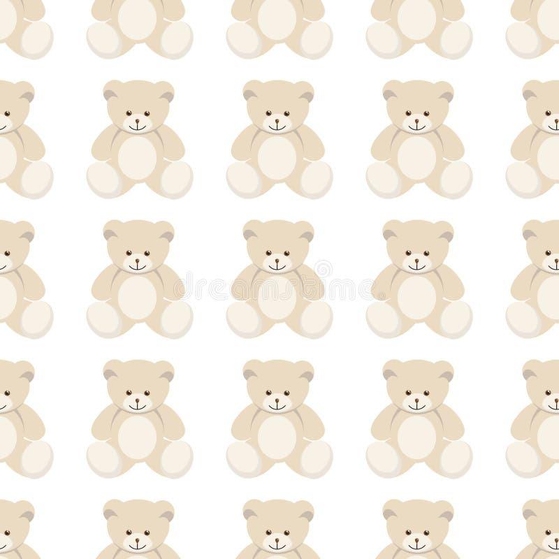 Ours de nounours sans couture illustration de vecteur
