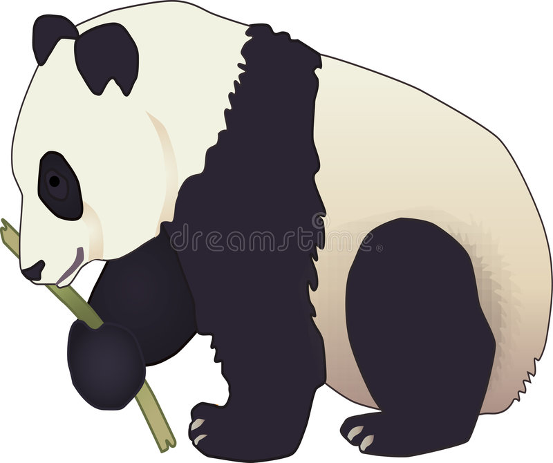 Ours de panda illustration stock