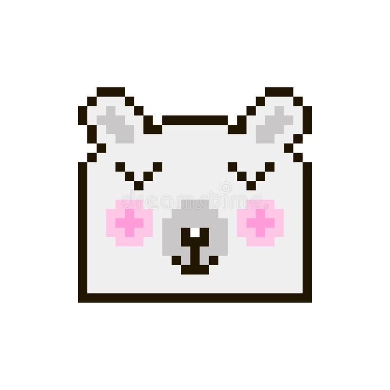 Ours de pixel de vecteur illustration libre de droits