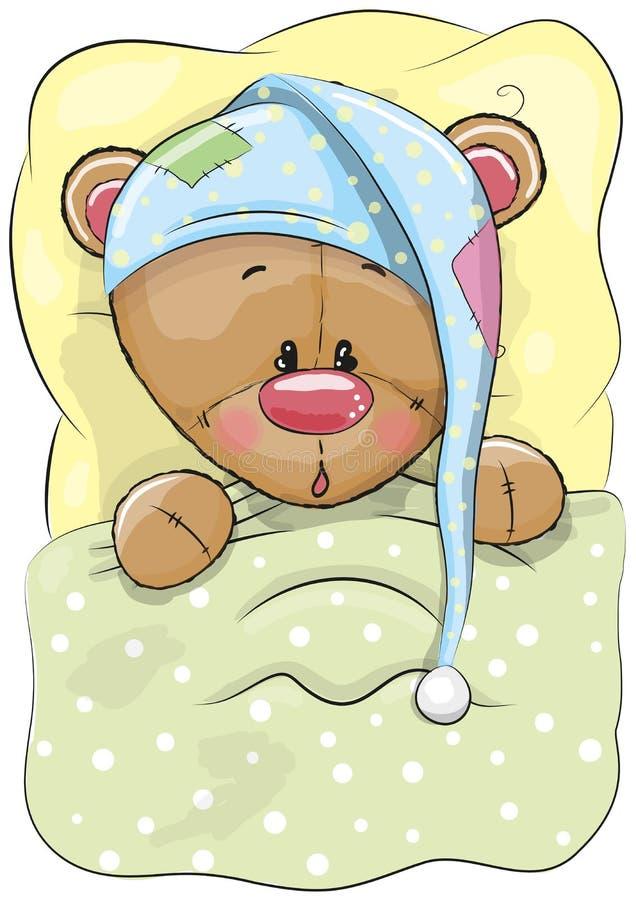 Ours de sommeil illustration de vecteur