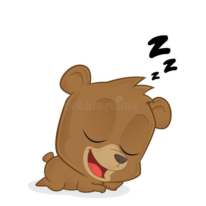 Ours de sommeil illustration libre de droits