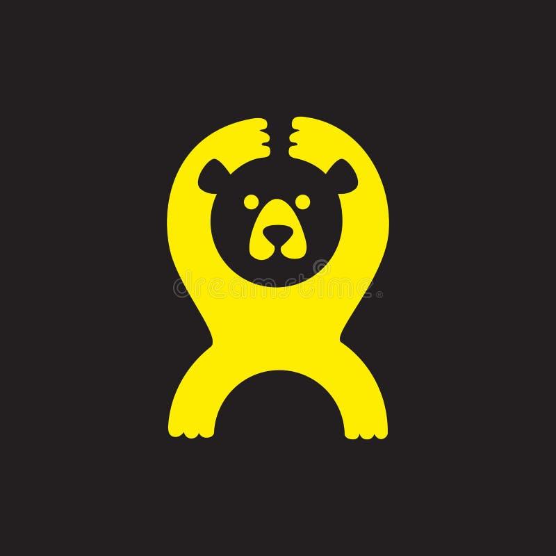 Ours drôle pour votre logo illustration stock