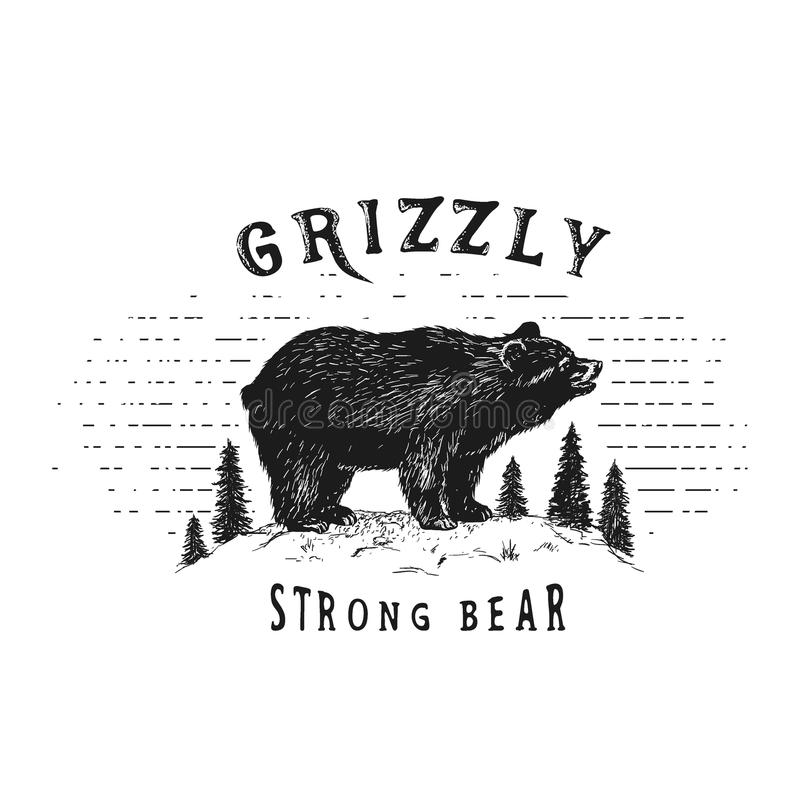 Ours fort dans la forêt illustration libre de droits