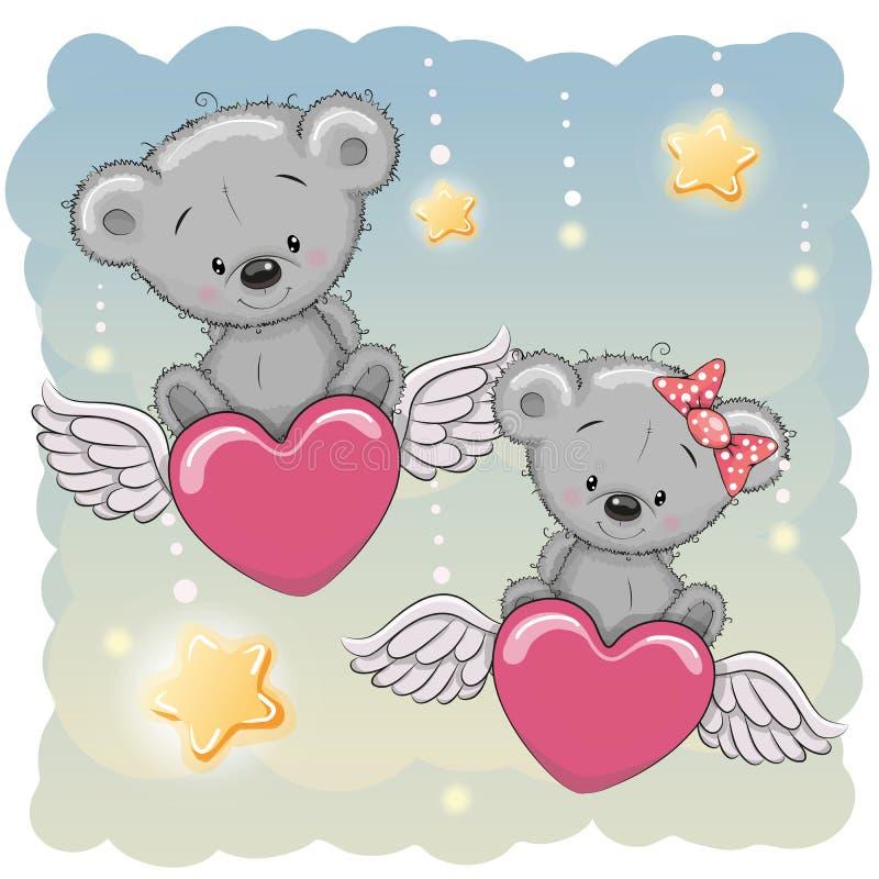 Ours mignons d'amants illustration libre de droits