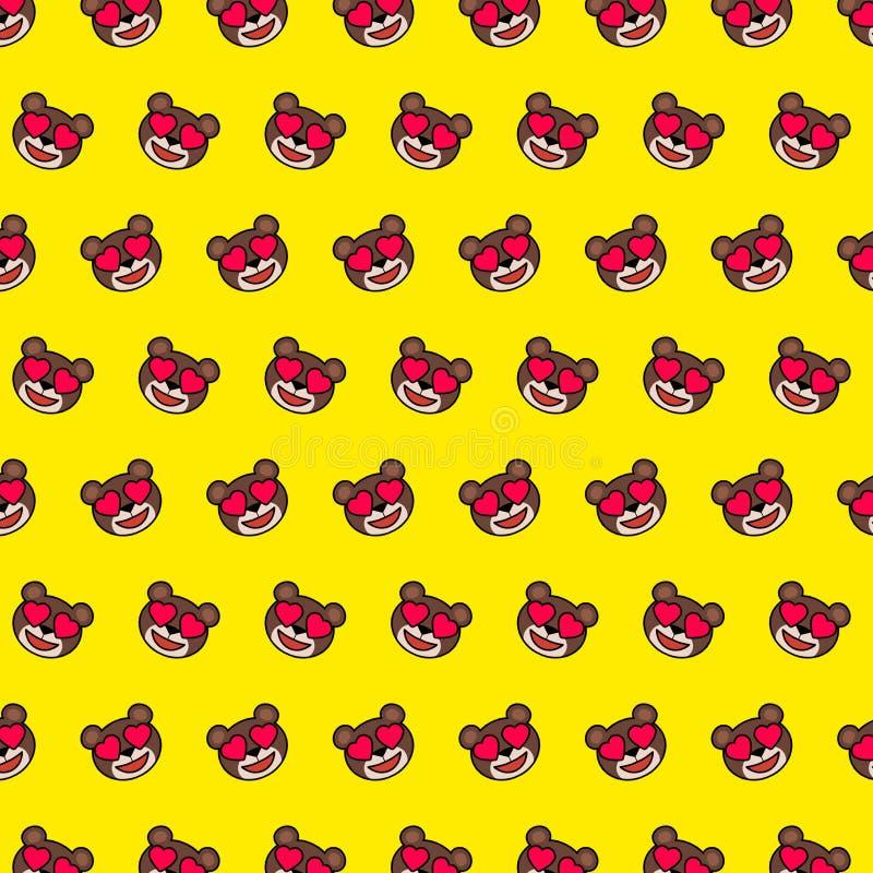 Ours - modèle 13 d'emoji illustration stock