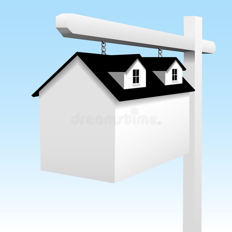 Ouse as a Home Real Estate Yard Sign stock illustration