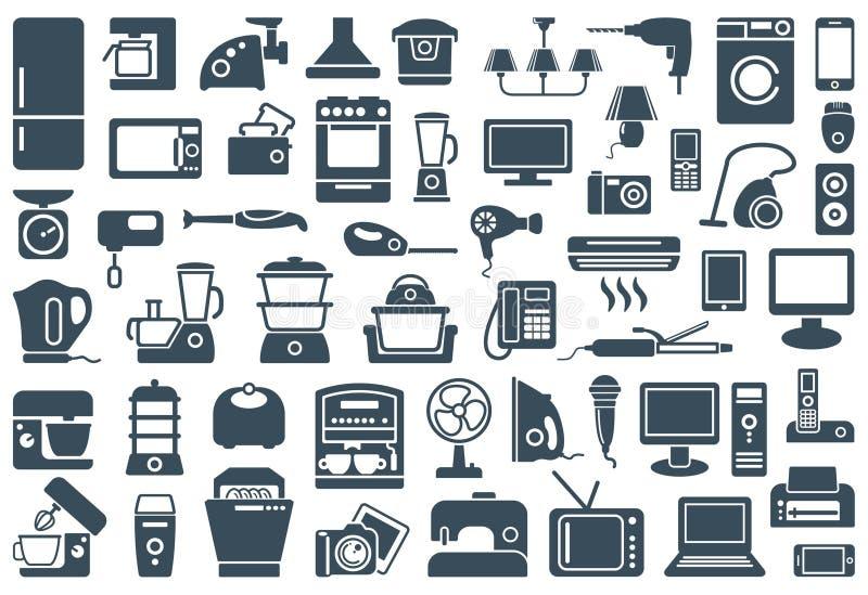 Ousehold εικονίδια συσκευών Ð  ελεύθερη απεικόνιση δικαιώματος