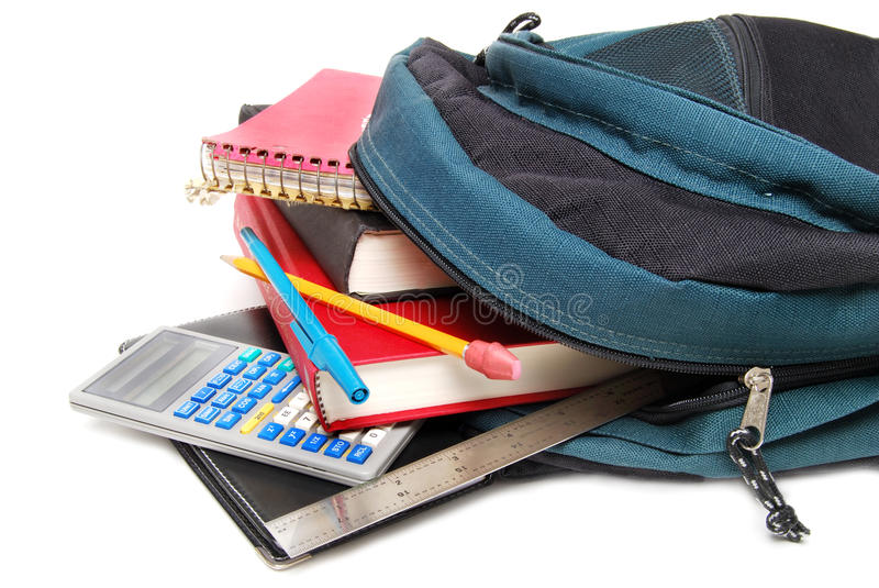 Download Out the bag stock photo. Image of student, backpack, pencil - 10172688