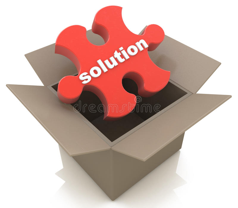 Out of the Box Solution royalty free stock photography