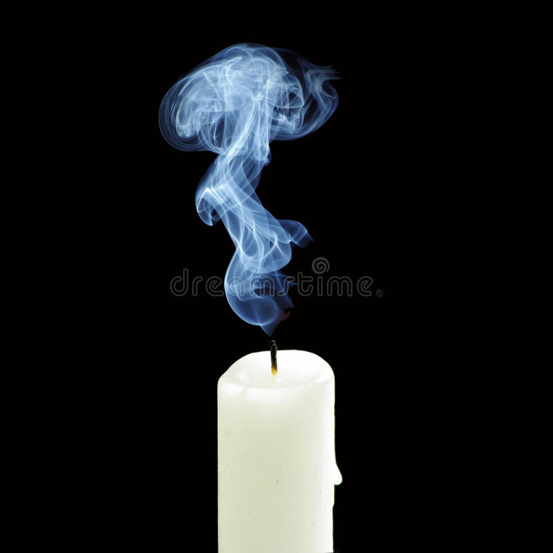 Free Out Candle Smoke Stock Photo - 45040330
