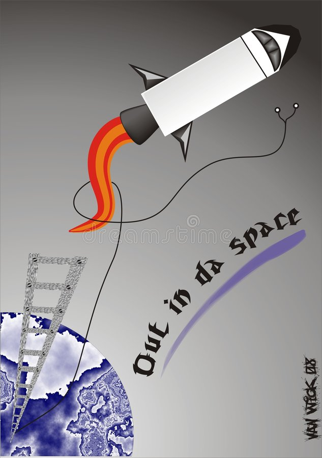 Download Out in da space stock illustration. Illustration of fire - 6086245