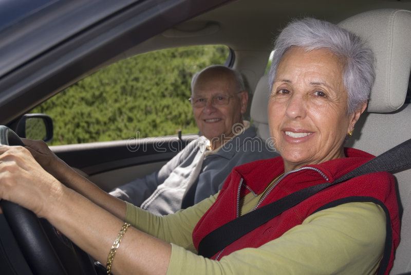 Out for a drive, focus on woma stock photography