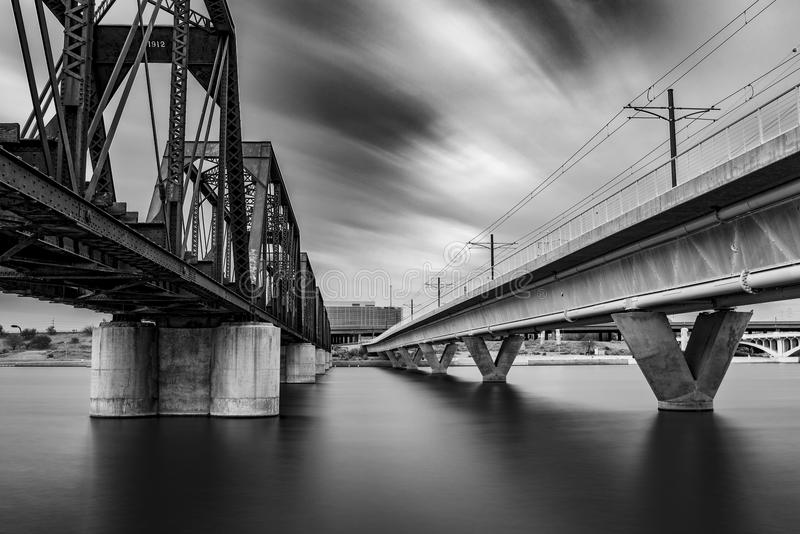 Long exposure at Tempe Town Lake royalty free stock photos