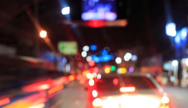 Out of focus night light royalty free stock images