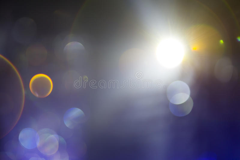 Out of focus studio lights royalty free stock photography
