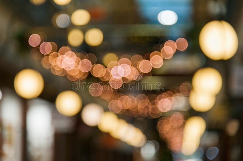 Out of focus Xmas lights royalty free stock image