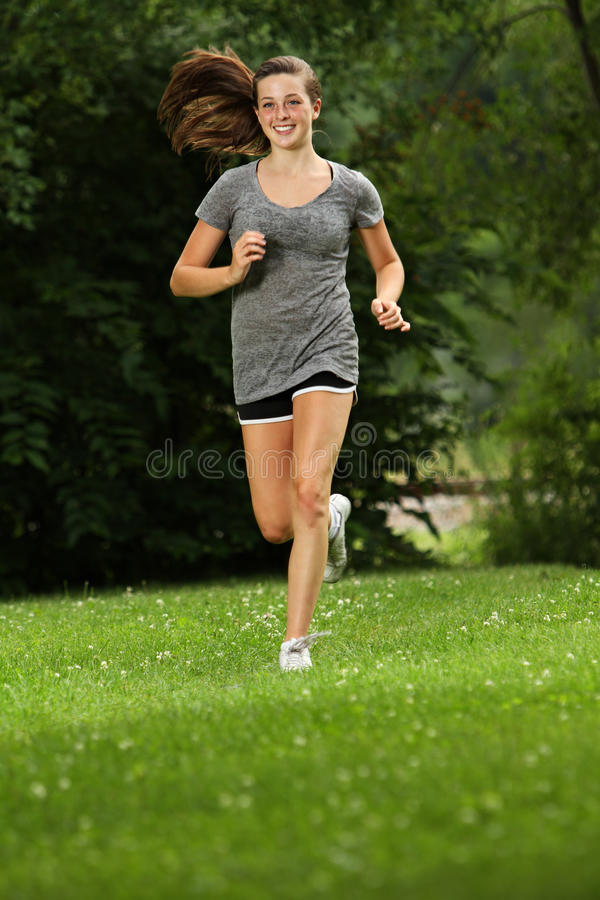 Out for a jog stock photography