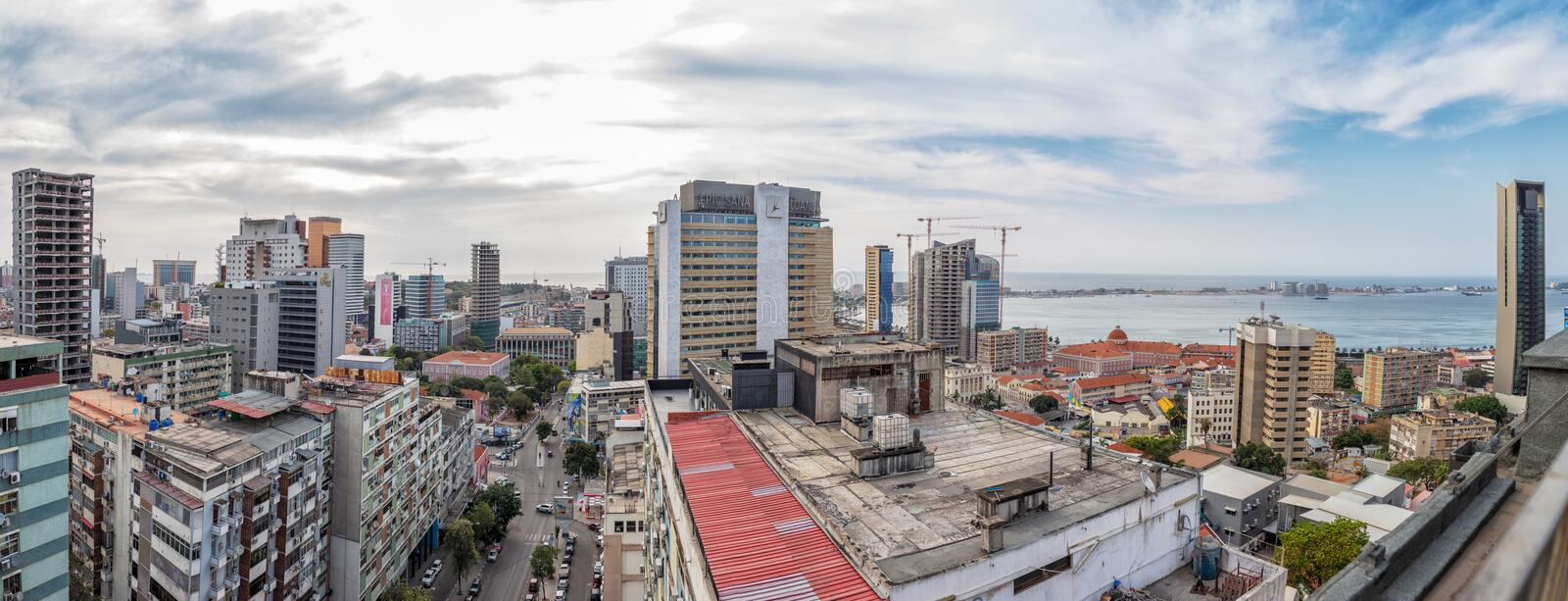 20OUT2019 - LUANDA-ANGOLA - Beautiful view of Luanda city, difference between worlds, the degraded and the new. Angola. Detail royalty free stock photos