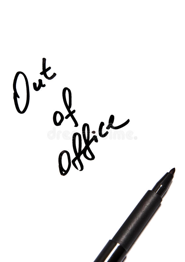 Free Out Of Office Script Stock Image - 14153941
