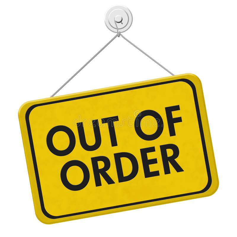 Free Out Of Order Sign Stock Photography - 73652042