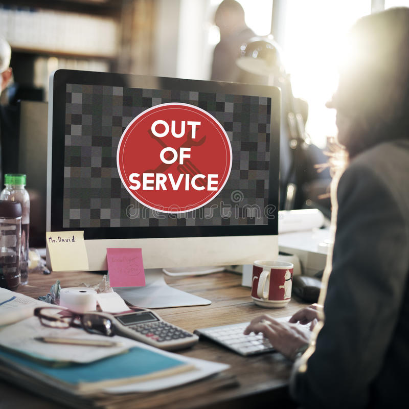 Free Out Of Service Sign Graphic Concept Royalty Free Stock Photos - 81502578