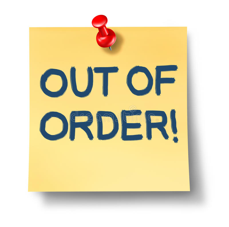 Download Out Of Order Royalty Free Stock Image - Image: 22538606