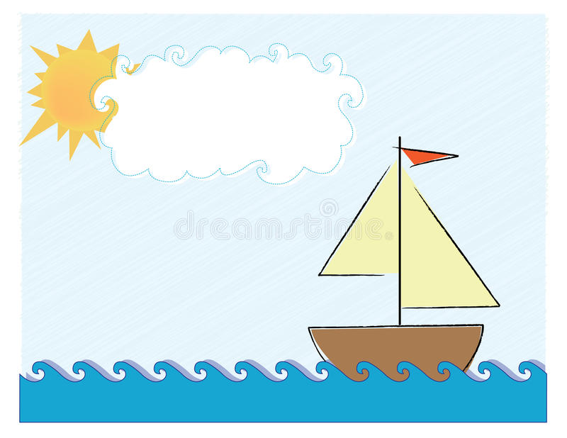 Download Out for a Sail stock illustration. Illustration of outline - 10325216