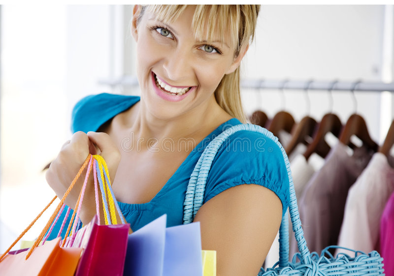 Out Shopping Royalty Free Stock Photos