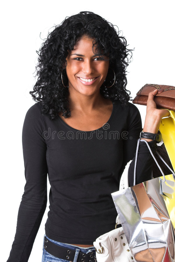 Out on a shopping trip stock photography