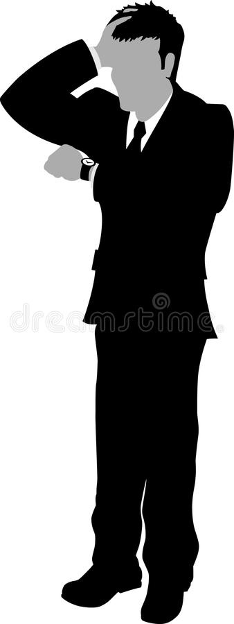 Download Out of time Business man stock vector. Illustration of hands - 14040539