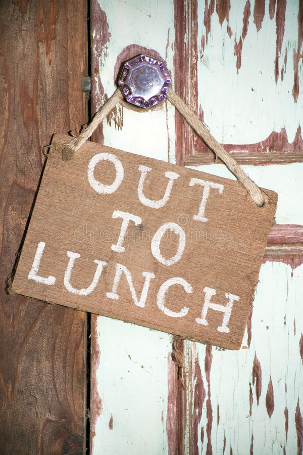 Out to lunch royalty free stock photos